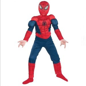 🆕 Boys Classic Spider-Man Muscle Costume (S 4-6)